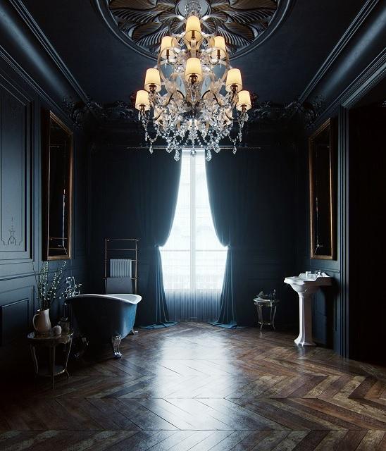 żyrandole klasyczne w salonie